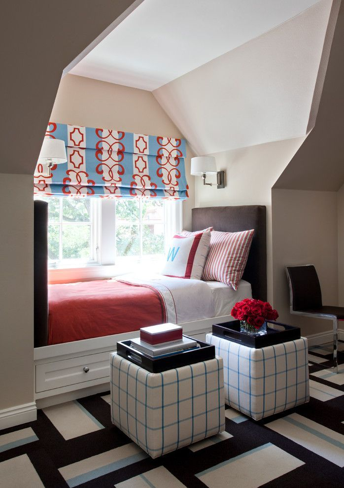 Mt Vernon Square Bed and Breakfast Inspiration of Transitional Kids with Bedding Cube Nook Tray Wall Sconce Window Window Seat Window Shades