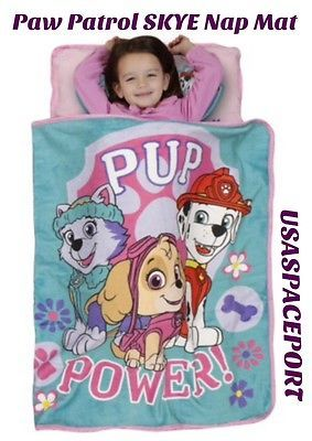 Daycare Supplies 116097: Paw Patrol Girls Skye Nap Mat Toddler Daycare Preschool Blanket + Pillow Bed Set -> BUY IT NOW ONLY: $32.88 on eBay!