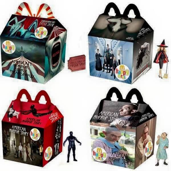 American Horror Story Happy Meals - Collect them all (wait. This actually happened? Aren't happy meals for kids?)