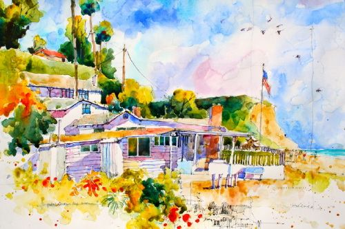 """Crystal Cove White House"" by Joseph Stoddard.  He uses very vibrant and clean color."