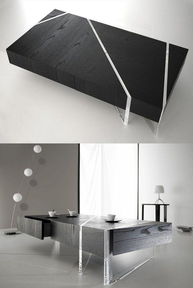 Low rectangular coffee table KRISTAL By La Maison Turrini design Erwan Peron