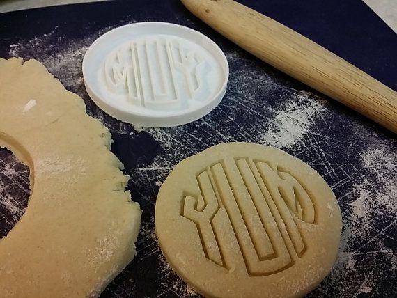 monogrammed cookie cutter.