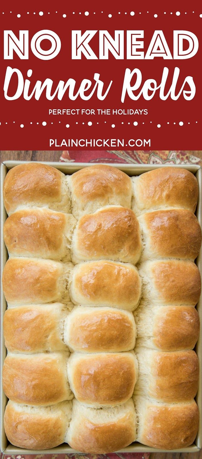 No Knead Dinner Rolls ( can do half recipe)