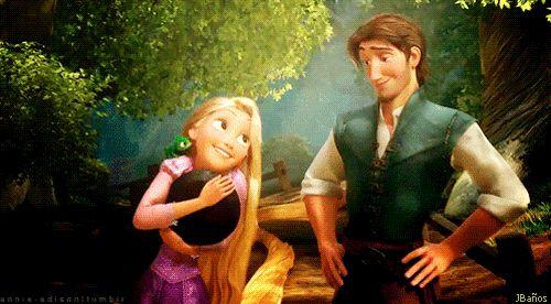 Tangled: Flynn: ¿Tienes hambre? Conozco un gran lugar para el almuerzo. Rapunzel: Oh. Rapunzel: ¿Dónde? Flynn: Oh no se preocupe. . Lo sabrás cuando lo hueles