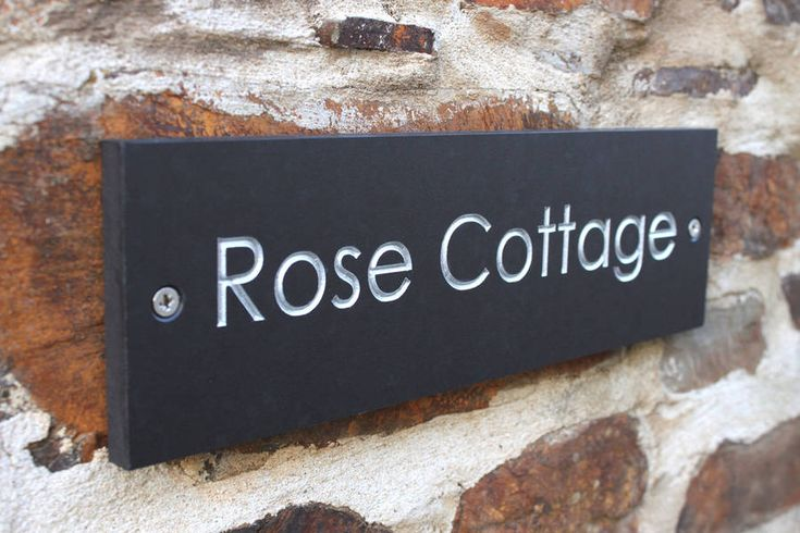 Ashortwalk Personalised House Signs One And Two Line