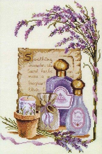 0 point de croix parfums lavande - cross stitch lavender perfumes