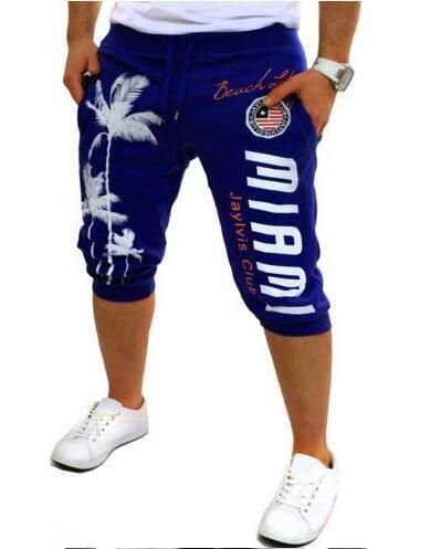 Shorts Mens 2017 Tights Palm Print Design Bermuda Short Men Shorts 3XL - 10 minus