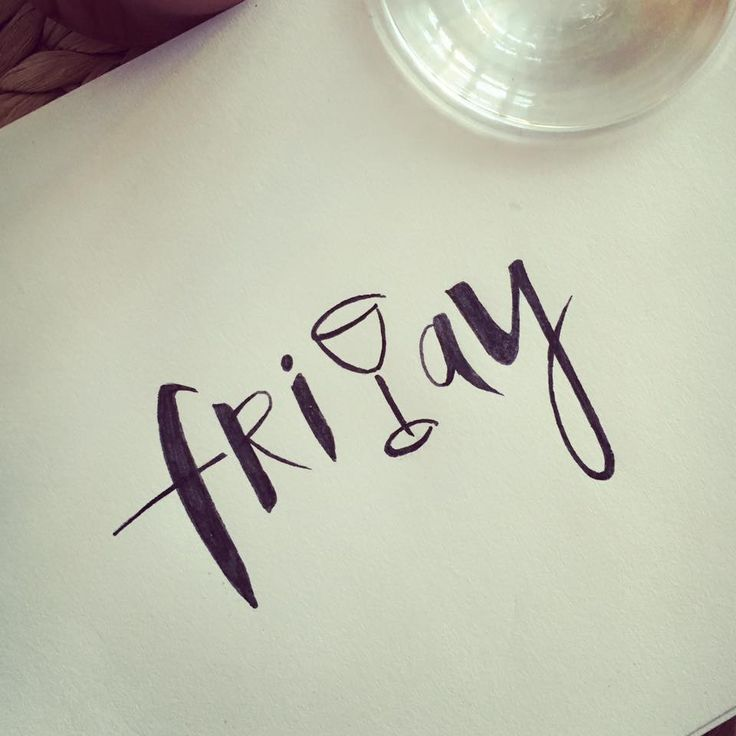 #friday #weekend #handlettering #words #quote #lettering #design #type #wine