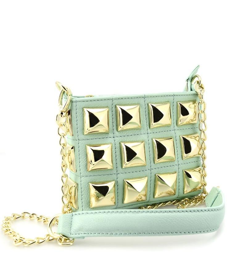 Stud Muffin - mint Green purse ✿⊱╮