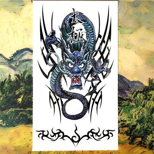 Nu taty black mamba cobra snake temporary tattoo body art for Black mamba tattoo