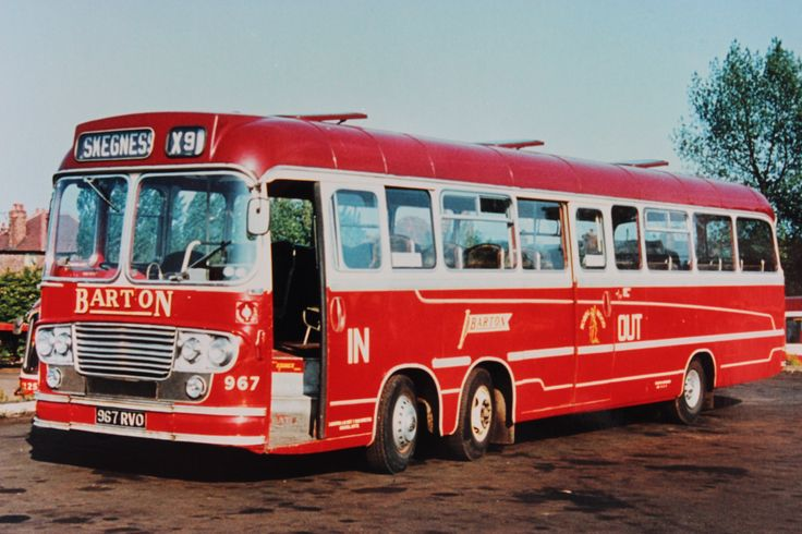 Barton Transport fleet no.967, a Duple bodied Bedford 'Val 14' ready to operate the X9 service to Skegness
