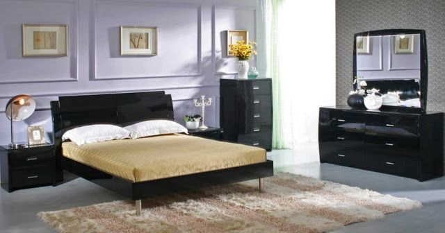 Black Lacquer Bedroom Set House Ideas Decorating Dengan Gambar