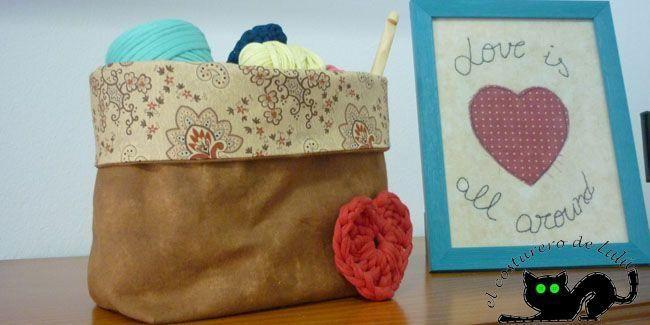 Imagina todos los usos que puedes dar a una cesta como esta en tu hogar. ¡No lo imagines más y hazla!