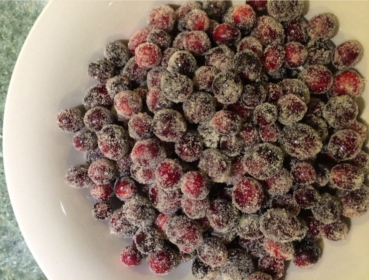 Georgia, Plain & Simple: Sugared Fresh Cranberries Recipe http://georgiaplainandsimple.blogspot.com/2014/11/sugared-fresh-cranberries-recipe.html?spref=pi