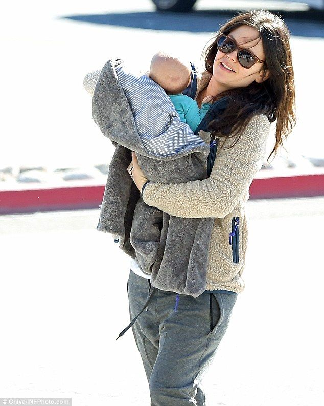 Family vacation: Rachel Bilson is taking advantage of her time away from Hart Of Dixie by spending it with her baby girl Briar and partner Hayden Christensen