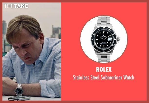 Rolex Stainless Steel Submariner Watch as seen on Mark Baum in The Big Short   TheTake
