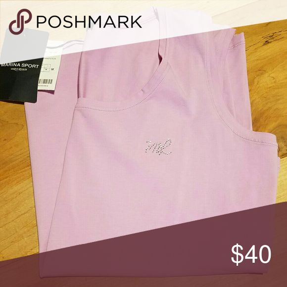 Plus Size Marina Rinaldi Sport Pink Tank Top Marina Rinaldi is a high end Italian plus size designer. The tag says M, but that's the Italian size - it's equivalent to a 16. Brand new with tags, smoke free home. Marina Rinaldi Tops Tank Tops
