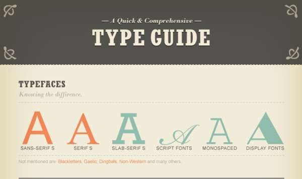 A quick and comprehensive type guide