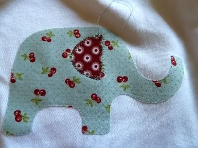 no sew applique patterns free | And now sew around the rest of the elephant's body to secure in place.