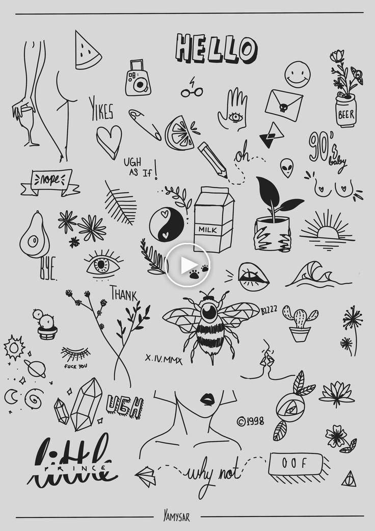 Random Tattoo Ideas Most Of Them Are Referenced Idk I Wanna Be A Tattoo Artist Doodle Tattoo Sharpie Tattoos Tattoo Flash Art