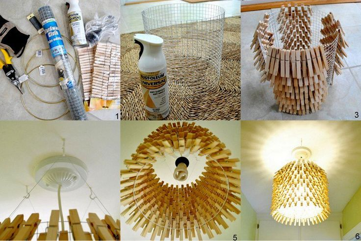 Clothespin chandelierLights Fixtures, Trav'Lin Lights, Clothespins Crafts, Diy Chandelier, Lights Shades, Home Interiors Design, Modern Home, Diy Projects, Laundry Room