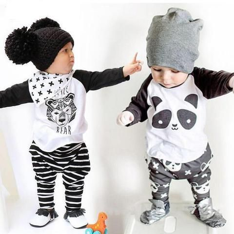 Toddler Kids Baby Boy Outfits Clothes T-shirt Tops+Pants Tracksuit 2PSC//Set YW