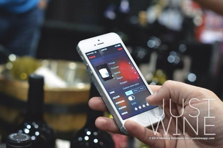 Using our wine app to keep track of the wines we tried at Mission Hill winery in Kelowna, BC