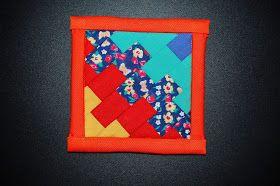 MEG Self Realization: Patchworkowa podkładka pod kubek dla mamy / Patchwork mug rug for my mother / Patchwork porta copo para minha mãe
