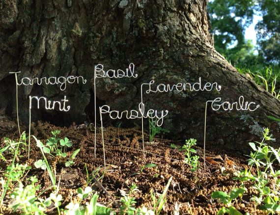 Set of 5 Custom Garden Markers Other quantities by theFolk on Etsy,