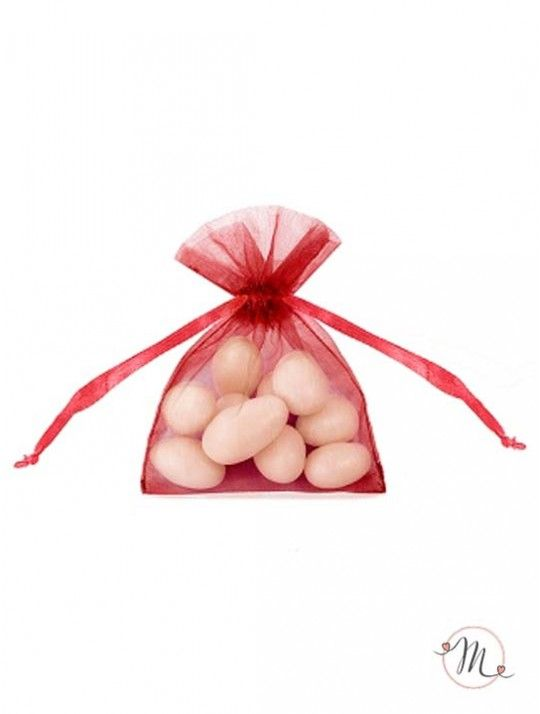 Sacchetto organza Rosso.  In #promozione #confettata #confetti #matrimonio #weddingday #ricevimento #portaconfetti #sacchetti #wedding #sconti