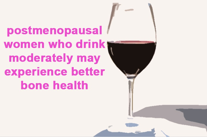women who drink moderately after menopause may experience better bone #health.