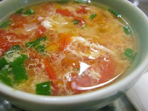 chinese Tomato Egg Drop Soup recipe