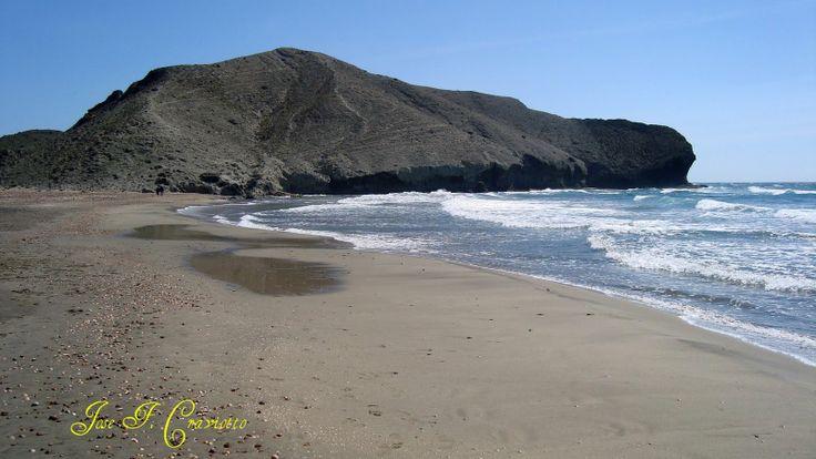 Playa de la Media Luna  .Nijar .Almeria .Spain