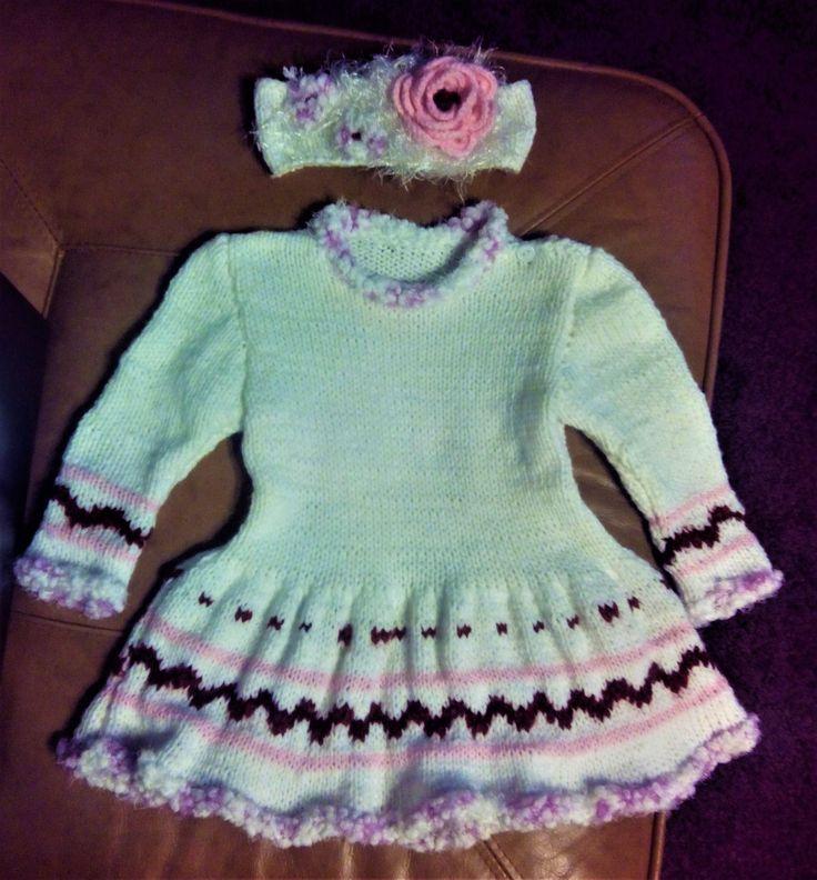 Dětské pletené šaty