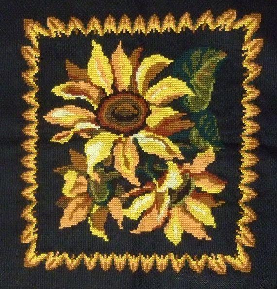 Cross-stitch. 100% handmade. The frame. Sunflowers on a от sneiki1