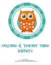 Owl Welcome and Teacher Name Banner product from MiTeacher-Girl-Store on TeachersNotebook.com