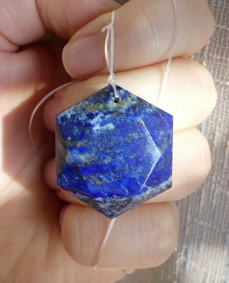 LAPISLAZULI STAR PENDANT - Six Pointed Star Lapis Pendant. With Golden Pyrite Inclusions. Throat Chakra - Clear communication, Creativity di StargateOrgonite su Etsy