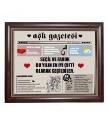 Kişiye Özel Aşk Gazetesi Manşeti