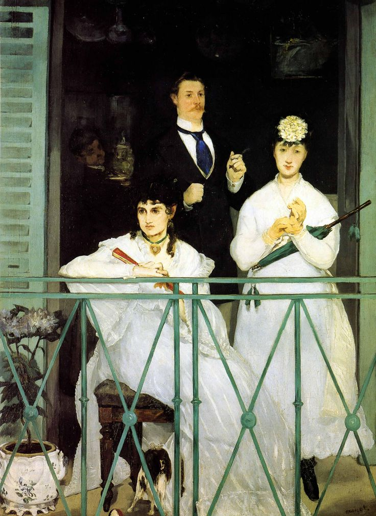 'The Balcony' by Édouard Manet; 1868