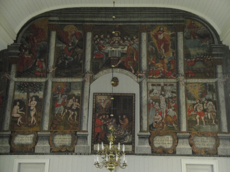 Interior of the church in Kronoby, Finland