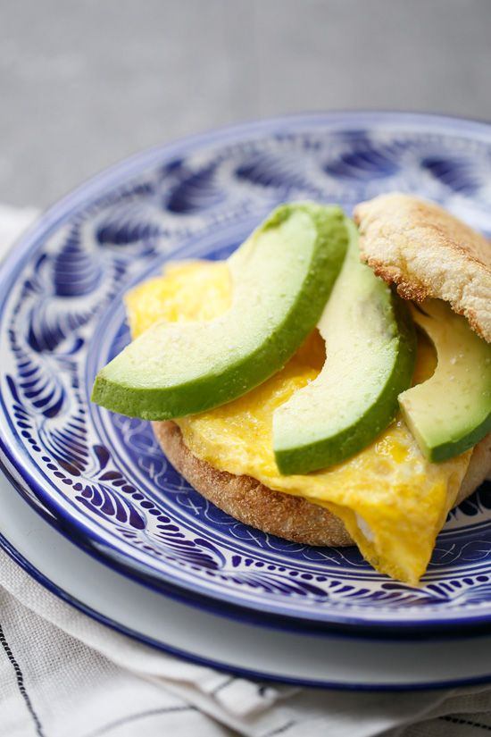 Sometimes being simple is just better!Goat Cheese & Avocado Egg Breakfast Sandwiches.