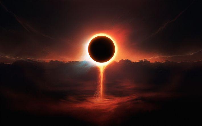 Herunterladen hintergrundbild schwarzes loch -, kunst -, galaxy -, eclipse-nebula, #eclipsene…
