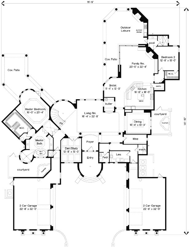 Italian Villa House Plans 155 best luxury style house plans images on pinterest | dream