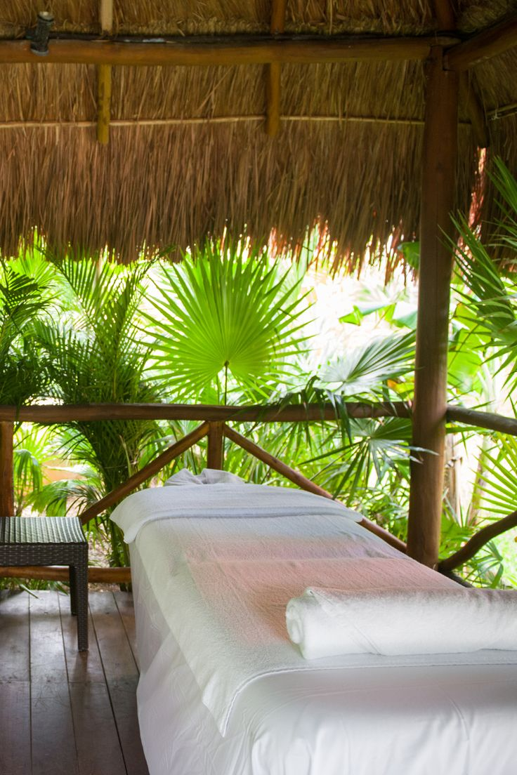 Relax and enjoy the Mexico view during a deep tissue massage, just one of the many options at our on-site spa in Cancun.