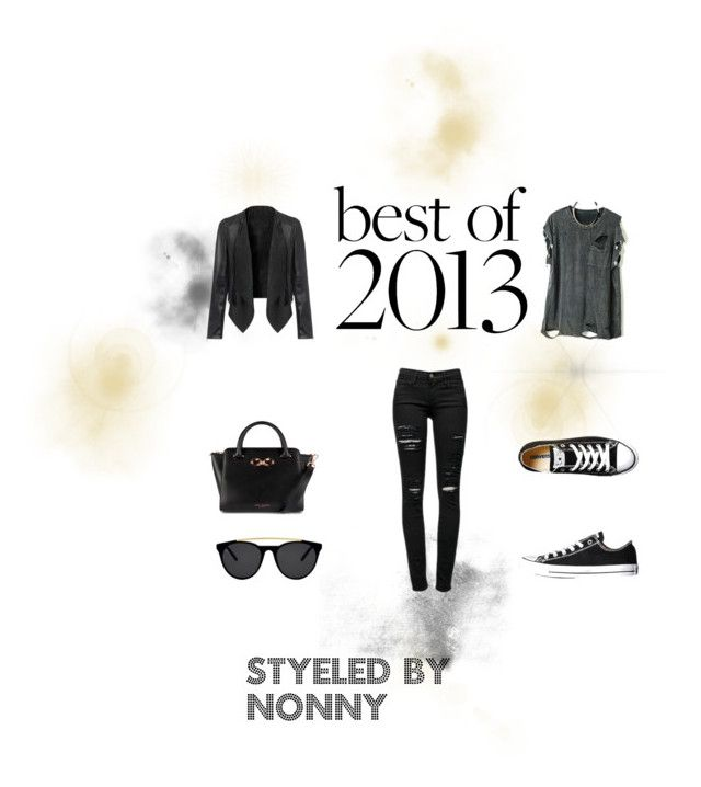 street style by nhlanhla-dlamini on Polyvore featuring Frame Denim, Converse, Ted Baker and Smoke & Mirrors