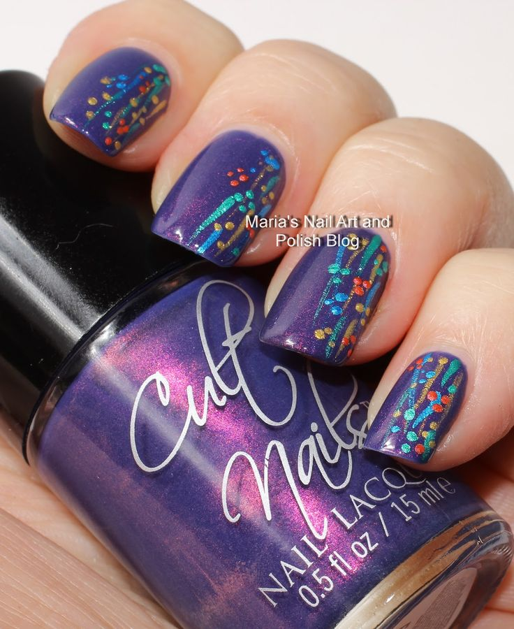 Flushed with stripes and dots - easy nail art | Marias Nail Art and Polish Blog