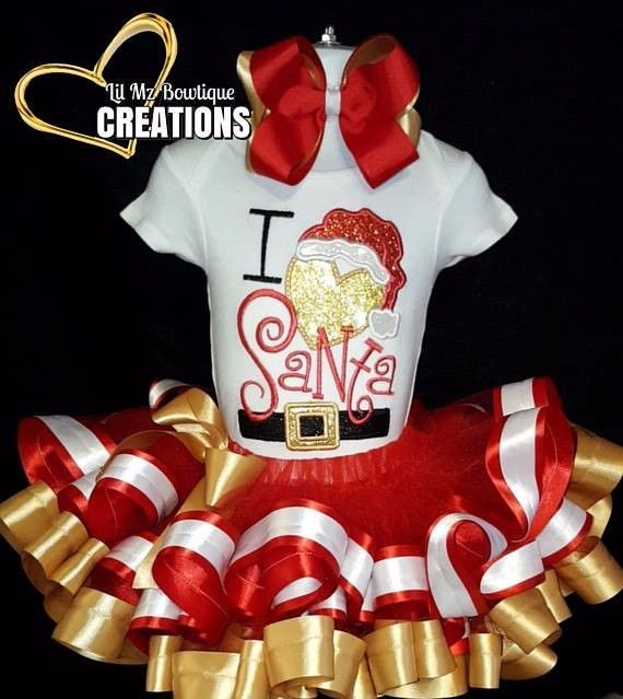 Christmas tutu outfit, Tutu outfit, santa Tutu dress #Handmade #DressOutfit #Holiday