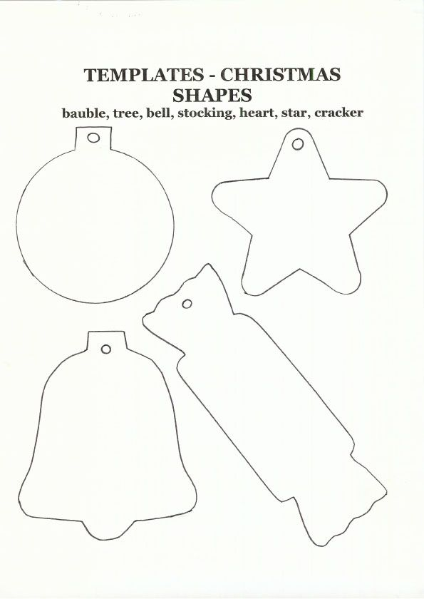 Christmas Craft Kids Crafts Marbling Shapes Ornament Template Felt Ornaments