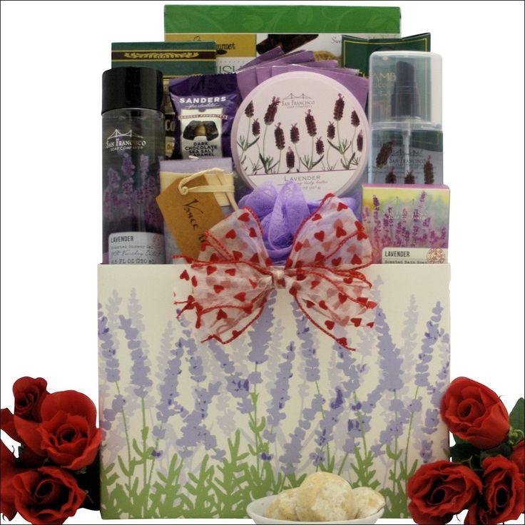 Lavender Spa Pleasures: Bath & Body Spa Valentine's Day Gift Basket