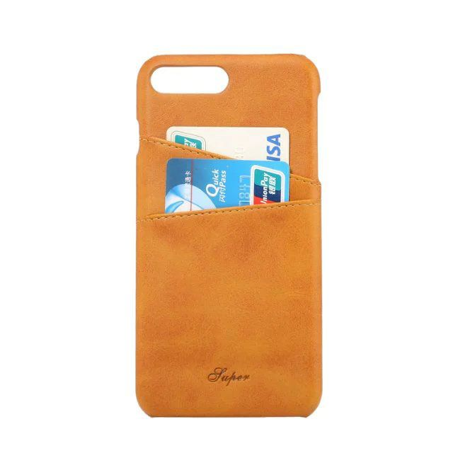 leather designer cases cover for iphone 7 orange